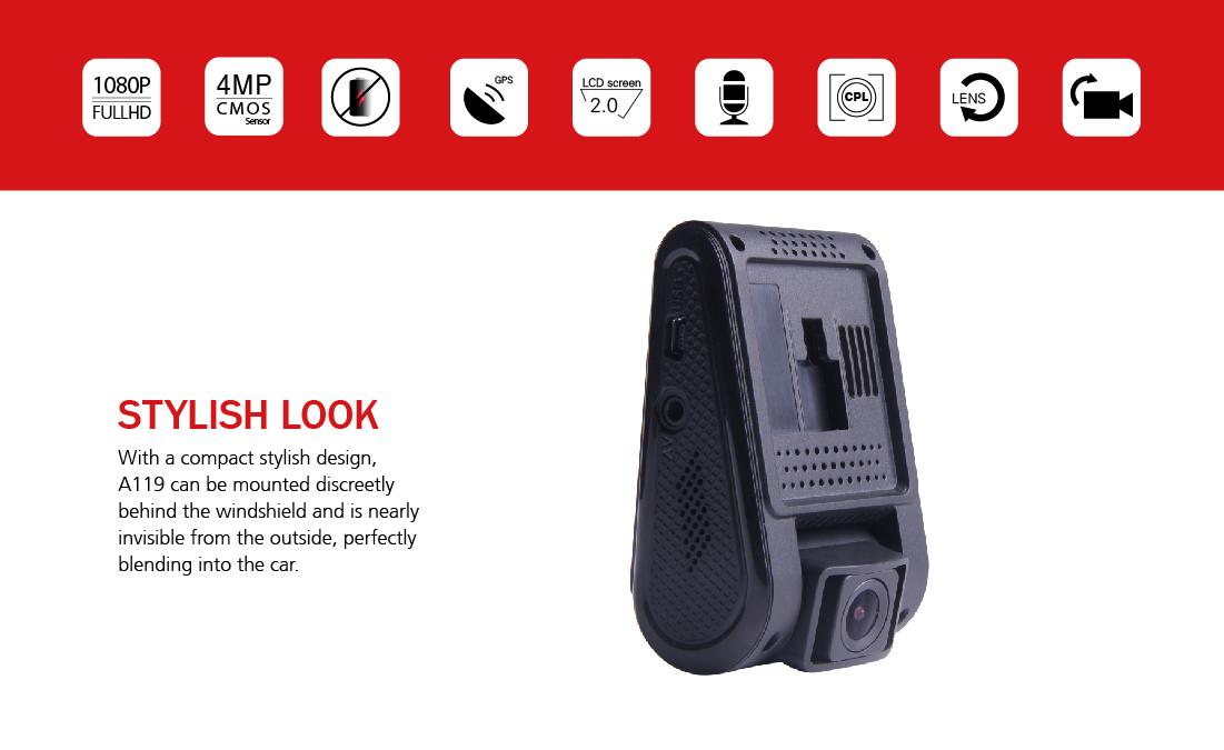 Stylový vzhled autokamery VIOFO