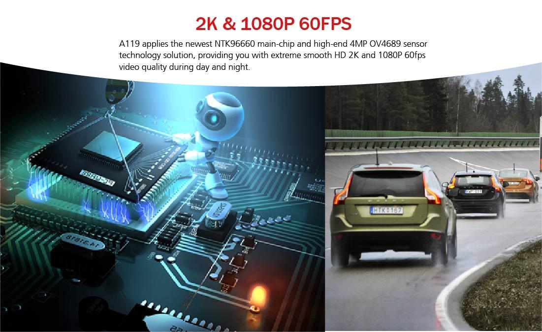 Rozlišení videokamery do auta VIOFO