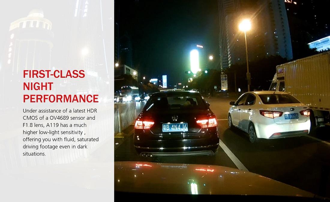 Skvělý záznam autokamery i během noční jízdy