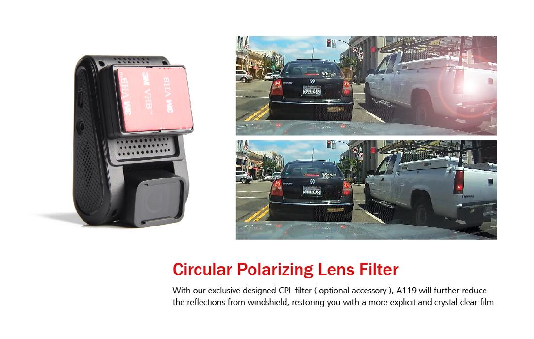 Autokamera VIOFO natáčí bez odlesků