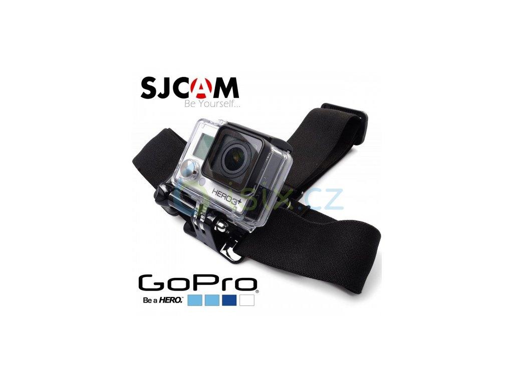 Držák popruhy kšíry na hlavu pro SJCAM nebo GoPro