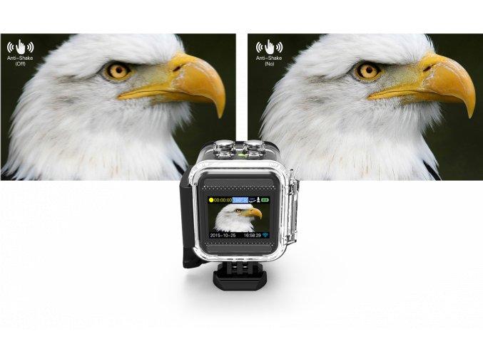 SJCAM M10 sportovní kamera černá CZ menu + Velká tlačítka na vodotěsném obalu