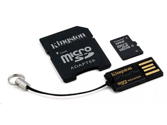 Kingston 64GB Multi Kit / USB Mobility Kit - MicroSDHC 64GB (Class 10) + čtečka + USB adaptér
