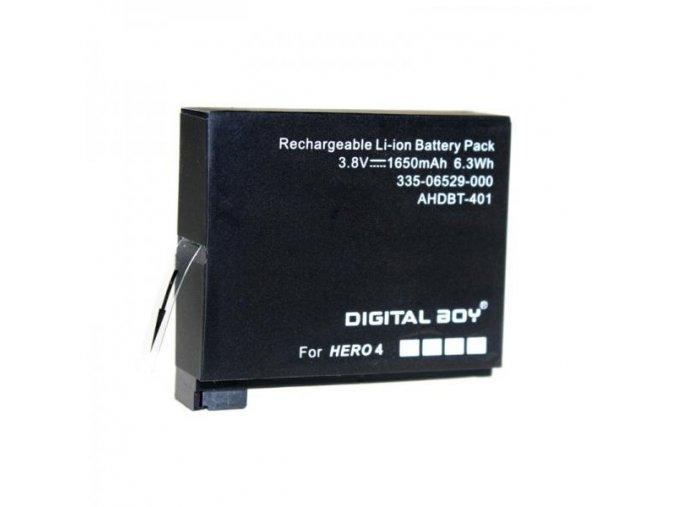 Baterie pro Gopro Hero 4 Digital Boy 3.8V 1650mAh AHDBT-401